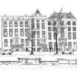 Amsterdam pentekening