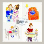 Geboortekaartje illustraties tekening