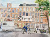 Illustratie trouwkaart Amsterdam