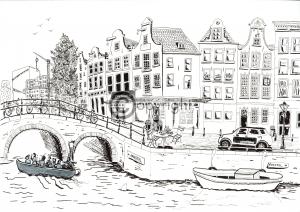pentekening Amsterdam