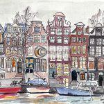 Tekening Amsterdam Singel