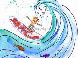geboortekaartje surfen