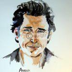 tekening aquarel portret