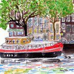 Amsterdamse grachten afbeelding