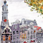 Amsterdam westertoren illustratie