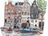 illustratie amsterdamse gracht