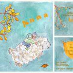Geboortekaartje met tekening