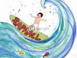 Geboortekaartje golf, surf, baby, zomer, hip
