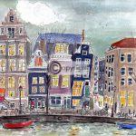 Amsterdam tekening huis
