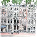 pand tekening Amsterdam