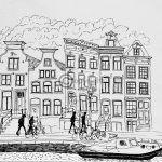 pentekening Amsterdam,Spiegelgracht