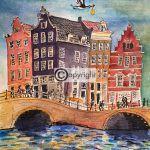 Geboortekaartje Amsterdamse grachtenpanden