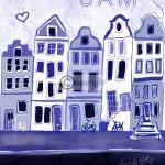 Delfts blauw geboortekaartje