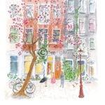 Geboortekaartje Amsterdam tekening
