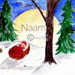 sneeuw geboortekaartje