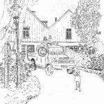 Pentekening woonboerderij