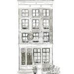 huisportret pentekening