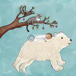 ijsbeer geboortekaartje